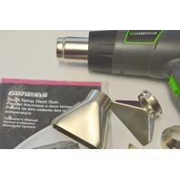 Genesis Dual Temp Heat Gun #GHG1500A with accessorie nozzles and manual.