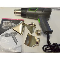 Genesis Dual Temp Heat Gun #GHG1500A with accessorie nozzles and manual.