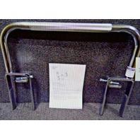 """7"""" Fasten Chrome Plated Steel Bathtub Safety Rail/Bar, Silver 4WMJ6"""