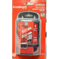 Goldblatt 100 Pack Heavy Duty Utility Blades #G08283 - New