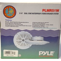 "Pyle 100W BLMR51W 5 1/4"" Dual Cone Waterproof Stereo Speaker System - 1 Pair"