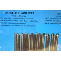 28 Pc Center Punch Transfer Set-Steel, Machinist Thread Tool Kit w/Metal Stand