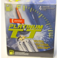 4 pc Denso Platinum TT Spark Plugs-Twin tip techmology for better firing. 4504#4