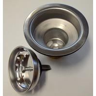 """Moen #22036 Basket Strainer Assembly 3 1/2"""". Stainless Steel."""