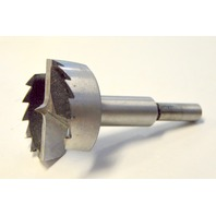 "1 7/8"" Forstner Bit, D101-4, Precision Ground Shank, Saw Toothed 3/8"" Shank."