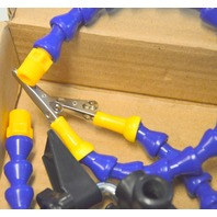 Table Clamp Flexible Arm Helping Hand - 2 arms, no magnifier.