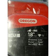 """Oregon H72 Control Cut 18""""/.050""""/.325"""" Chainsaw Chain. Open Box. 102536234"""