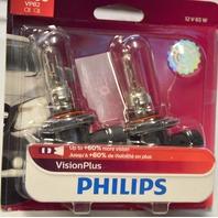 Philips Vision Plus 12V 65W #9005 VPB2 Upgrade Headlight Bulb - 2 per pack.