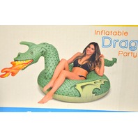 GoFloats Giant Inflatable Fire Dragon 4' wide and 2.5' tall.
