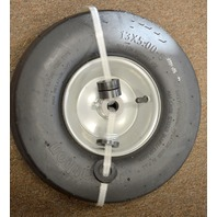 "Marathon Tire Pneumatic - 3/4"" Bore, 13 x 5.00-6"" Steel Rim, Smooth Tread."