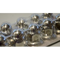 RoadPro 33m Flanged Lugnut Covers, HD SS Construction #RP-33SS10