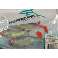 "Hurricane Salt Tackle 4"" Livewire Swin Shad-Natural/Black Back/Red Tail"