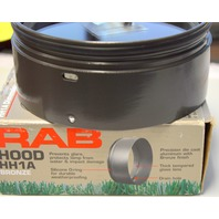 "RAB Hood HH1A Bronze - 5 1/2"" Across and 2 1/4"" Deep. Directions on the box."