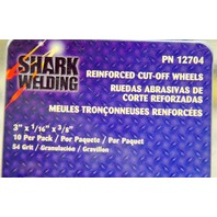 "Shark Welding Reinforced Cut-Off Wheels #12704 -10 pcs, 3"" x 1/16"" x 3/8"""