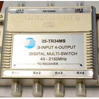 Trunkline 35-TR34MS 3-INPUT 4-OUTPUT Digital Multi-Switch 40-2150MHZ