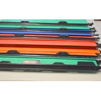 "6-Magnifiles Hanging File Folders -1"" wide at bottom, Letter Size, Assorted Colors."