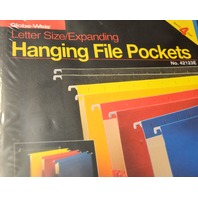 Globe-Weis Hanging File Pockets-Letter Size 4 pack expansion - colors