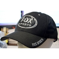 Fox Sports Cap Black with Gray Lettering-Hook and loop back closure.