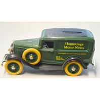 "ERTL ""1932 Replica of the Ford Delivery Van"" Bank w/Key. ""Hemmings Motor News"""