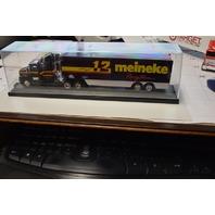 "1993 Jimmy Spencer ""12 meineke Racing Team"" truck and trailer w/ acrylic box."