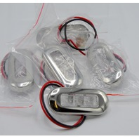 "5 - 12V Interior Blue LED Accent Lights- 3"" ovals - 1 is missing the mounting screws."