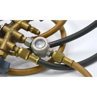 Manifold Gauge, Number of Valves:2, 0 to 800 psi gauges hight side Red.  DDK