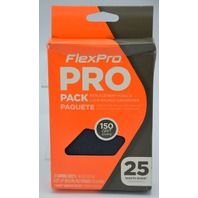 6 - FlexPro - Hook n Loop Sandpaper 25 pack, 150 Grit