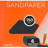 8 - FlexPro - Hook n Loop Sandpaper 150 Grit - 6 packs.  #400-06150