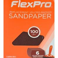 8 - FlexPro - Hook n Loop Sandpaper 100 Grit - 6 packs.#400-06100