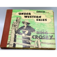 "Decca Records ""Under Western Skies"" 78 speed Box Set of 5 Records ""Bing Crosby"""