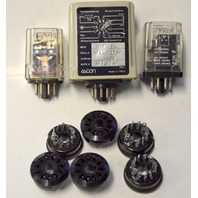 3 General Purpose Relays and 6 Sockets, different manufactures.