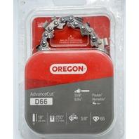 """Oregon AdvanceCut D66 Low Kickback Chainsaw Chain. 3/8"""" x 0.050"""", fits 18"""" bar."""