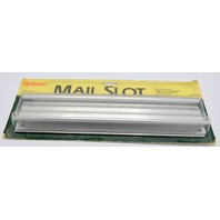 "Mail Slot by Brainerd - Extruded Aluminum 11 1/4"" x 1 5/8"" Opening, back plate"