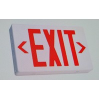TCP #227426 Exit Fixture  Red LED Compact Polycarbonate Sign - AC only