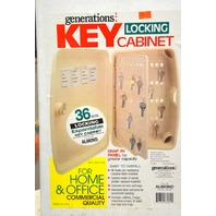 Generations Lockable 36 Key Storage Cabinet for Home or Office #33060