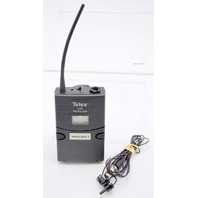 Telex WT-500 UHF Beltpack Transmitter, A,  with Telex Mic, powers on.