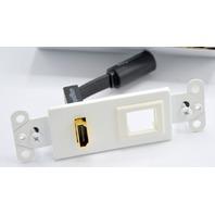 Rapid Run Female HDMI Wall Plate Transmitter with One Keystone #60151