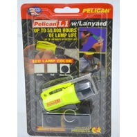 Pelican L1 1930 Flashlight -Yellow case with white light and lanyard