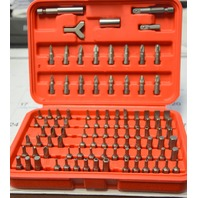 "Neiko 100 pc. Security Bit Set. #10048A 1/4"" Hex Shank Cr-V Steel with case."