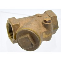 "Nibco 3/4"" Bronze Check Valve 7 Pattern #82349077 - New Old Stock."