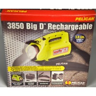 Pelican 3850 Big D Rechargeable Flashlight - Lead Acid Battery Pack - New Old Stock.