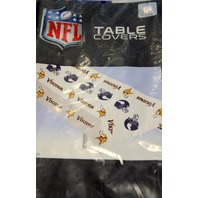 "Minnesota Vikings NFL Plastick Vinyl Piocnic Table Cover  54"" x108"""