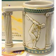 100 Years of Olympic Games -Centennial 1996 Stein w/Official Seal Busch Mug
