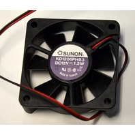 Sunon #KD1206PHB3-Square Fan 12V, 1.2W, 60x60x15mm.