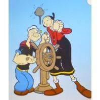 """Popeye Captain Wheel"" Sericel, 16 1/2"" x 13 1/2"" Image Size.  Unframed."