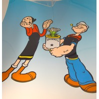 """"""" Popeye & Olive Oil with Spinach Bouquet Art Cel Sericel - Unframed."""
