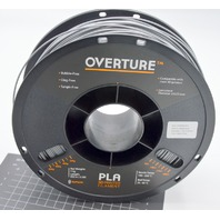 Overture PLA 3D Printer Filament 1/2 roll 2.85mm. Gray.