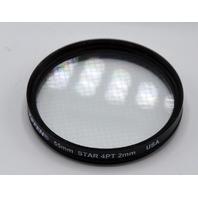 Tiffen 55mm 4 Point 2mm Star Glass Filter - Excellent condition