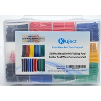 Kuject 530 Pcs Heat Shrink Tubing and Solder Seal Wire Connectors Box Set