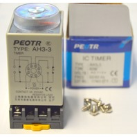 PEOTR IC Timer AH3-3, 60 Min. 250VAC, 50/60Hz, 8 Pins, Resistive Load.